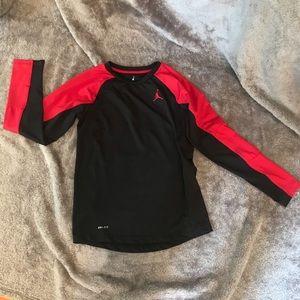 Nike Jordan Dri-Fit YL long sleeve shirt Black/red